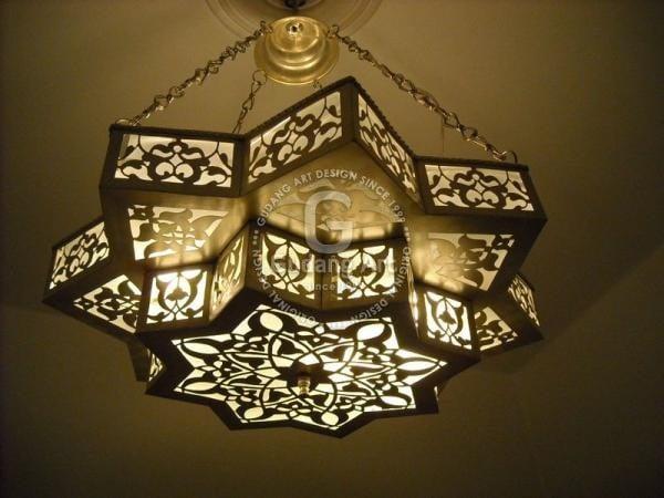 lampu gantung - kerajinan tembaga